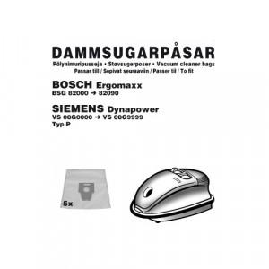 Dammsugarpåsar (5-pack) Bosch / Siemens