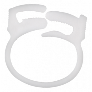 Kabelklämma återanvändningsbar 6-pack vit