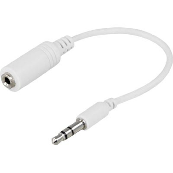 Audioadapter 3.5mm - 2.5mm (ha-ho) vit 10cm