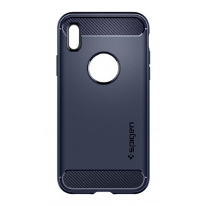 Skal Spigen iPhone X Rugged Armor Midnight Blue