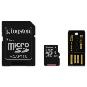 Kingston Technology Mobility kit / Multi Kit 64GB flashminne MicroSDXC Klass 10 UHS