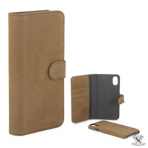 Fodral - iPhone X - Plånboksfodral Läder 2 delar CHIP8200C