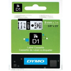 DYMO D1 märktejp 9mm 7m svart/vit Original