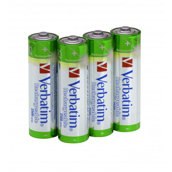 Batteri AA LR6 Laddningsbara 2500mAh 4st Verbatim