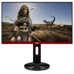 """AOC Gaming G2590PX platta pc-skärmar 62,2 cm (24.5"""") Full HD LED Platt Matt Svart, Röd"""