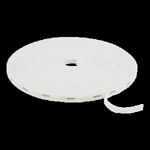 DELTACO kardborrband på rulle, bredd 10mm, 25m, vitt