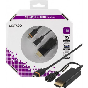 Micro USB Slimport till HDMI kabel (1m) GOLD