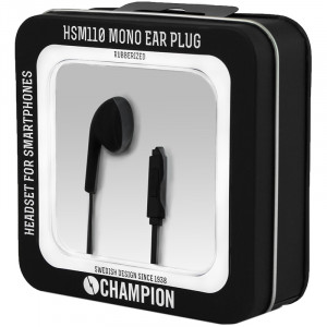 Champion Headset Mono Ear Plug Svart