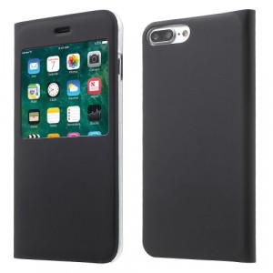 Fodral - iPhone 7 Plus - Fodral med fönster svart