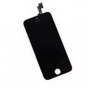 Glas iPhone 5S - Svart Hög kvalitet Grade AAA