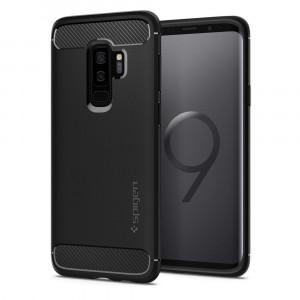 Spigen Galaxy S9+ Case Rugged Armor Matte Black