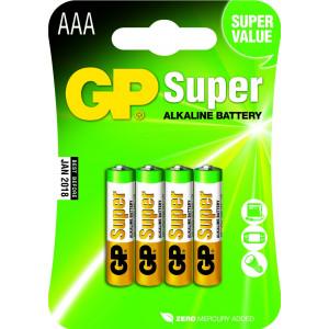 Batteri AAA (LR3) 4-pack - GP Super Alkaline