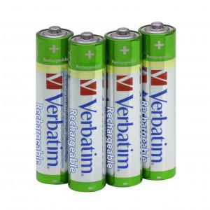 Batteri AAA LR3 Laddningsbara 1000mAh 4st Verbatim