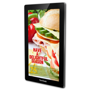 "Viewsonic EP3203R Digital signage flat panel 31.5"" LCD Wide Quad HD Svart signage display"