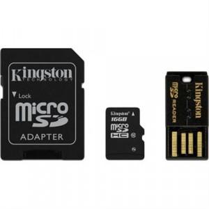 microSDHC 16GB Class 10 - Kingston +SD+USB-Adapter