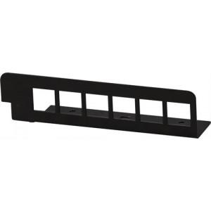 DELTACO kontaktplåt för FBP-1010, 6xLC duplex block, svart