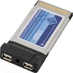 Kontrollkort PCCard USB 2.0 2-port (Sunix SX-165).