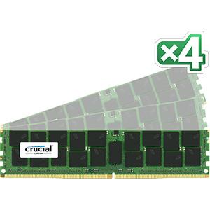 DDR4-2133 Crucial 64GB (16GB x 4) DDR4 PC4-17000 ECC 1.2V 64GB DDR4 2133MHz ECC RAM-minnen