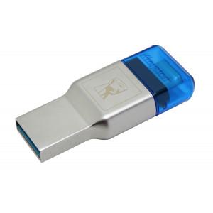 USB minne Kingston Technology MobileLite Duo 3C USB 3.0 (3.1 Gen 1) Type-A/Type-C blå kortläsare