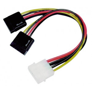 Kabel SATA-ström 4pin Molex - SATA x 2 (ha-ho)