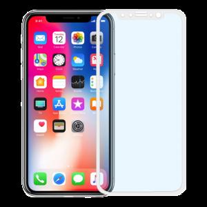 Pavoscreen 3D anti blue light glass för iPhone X, 9H hårdhet, vit
