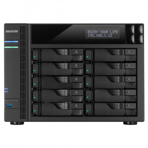 NAS Asustor AS7010T-i5 NAS 10-Bay Tower/8GB/Intel i5/GbEx2/HDMI