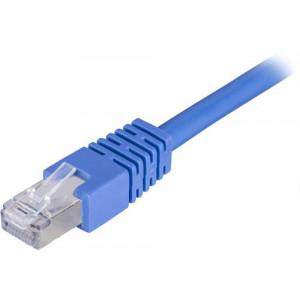 DELTACO F/UTP Cat6 patchkabel 2m, blå