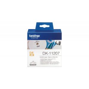 Brother DK-11207 Svart på vitt DK etikett-tejp