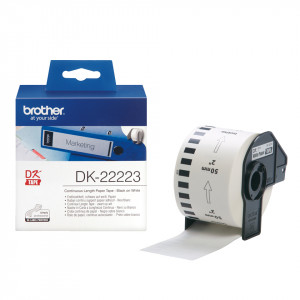 Brother DK-22223 Vit DK utskriftsbara etiketter
