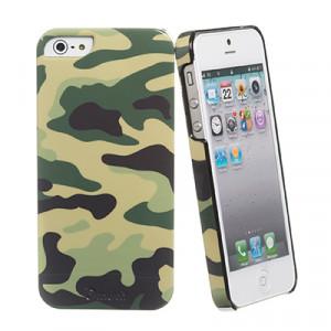 Skal - iPhone 5/5s - Muvit Camo vit + Skärmskydd.