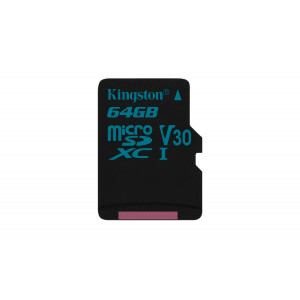 microSD Kingston  64GB micro SDXC Canvas Go 90/45 U3 UHS-I V30 Single