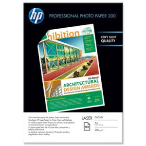Fotopapper A4 200g Glossy HP PRO Laser 100st