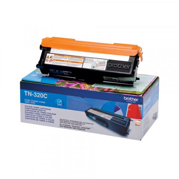 Brother TN-320C Tonerkassett Laserpatron 1500 sidor Cyan
