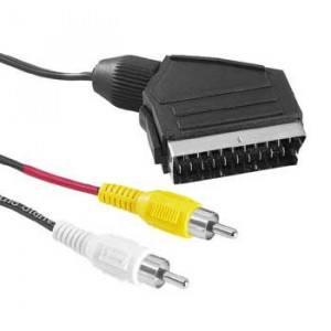 Scart - RCA x 2 Video TV-ut ha-ha (1.5m)