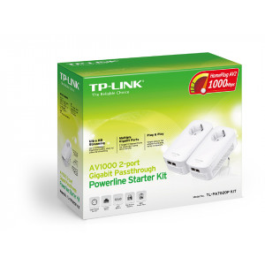Powerline adapter 2-pack - TP-Link AV1000 Gigabit