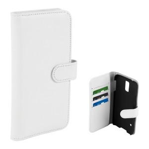 Fodral - Samsung Galaxy S5 - Plånboksfodral Vit