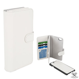 Fodral - iPhone 6/6S - Dubbel Plånboksfodral Vit