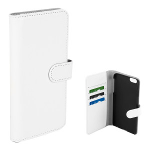 Fodral - iPhone 6 Plus - Plånboksfodral Vit