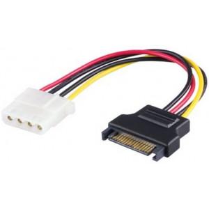 Kabel SATA-ström 4pin Molex - SATA (ho-ha)