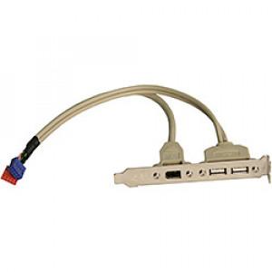 Expansionsslot bracket, USB x2 + Firewire 400 6pin