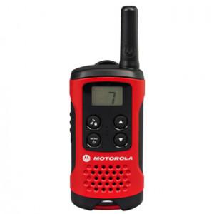 Motorola T40 Walkie Talkie 8kanaler 0.0125MHz Svart, Röd tvåvägsradio
