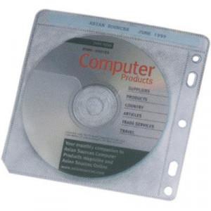 Plastfickor för skivor CD-108 100-pack dubbelsidig