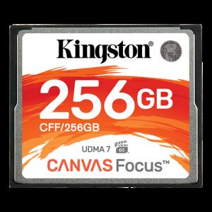 Kingston 256GB CompactFlash Canvas Focus up to 150R/130W UDMA7 VPG-65