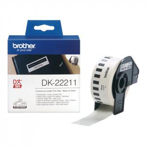 Brother DK-22211 Svart på vitt DK etikett-tejp
