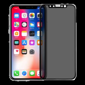 iPhone X / Xs anti spy glass black