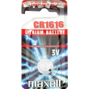 Batteri CR1616 - Maxell Lithium 3V.