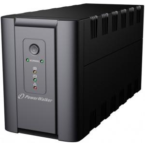 PowerWalker VI 1200 SH Schuko Linjeinteraktiv 1200VA 4AC outlet(s) Torn Svart strömskydd (UPS)