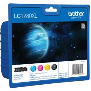 Brother LC-1280XLVALBPDR Svart, Gul bläckpatroner