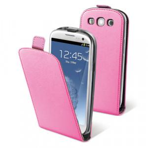 Fodral - Samsung Galaxy S3 - Muvit rosa+Skärmskydd