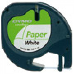 DYMO 12mm LetraTAG Paper tape etikett-tejp